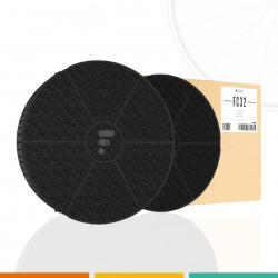 Elica cfc0038668 jeu de 2 filtres charbon actif pour - Hotte de cuisine avec filtre a charbon ...
